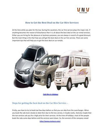 How to Get the Best Deal on the Car Hire Services
