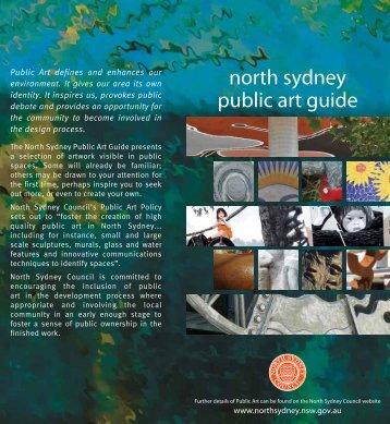 north sydney public art guide - North Sydney Council