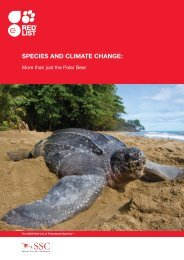 SpecieS and climate change: - IUCN