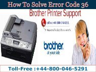 Dial 448000465291 Brother Help | How to Solve Error Code 36