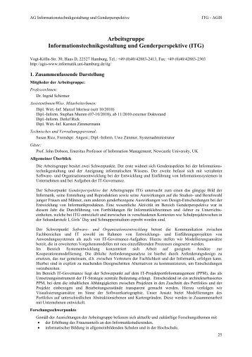 ITG - Fachbereich Informatik - Universität Hamburg