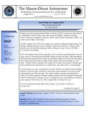 Minutes of Meeting on July 11, 2012 - Westminster Astronomical ...