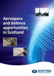 Aerospace and defence opportunities in Scotland - Scottish ...