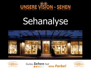 Unsere Vision - Sehen - Sehanalyse