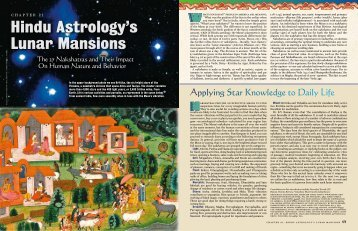 Hindu Astrology's Lunar Mansions - Hinduism Today Magazine
