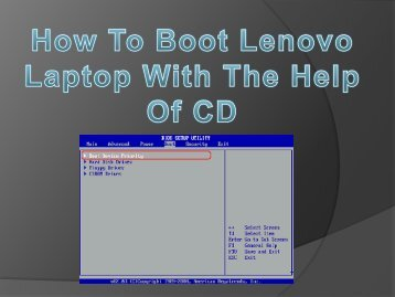 How To Boot Lenovo Laptop With The Help Of CD