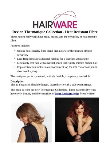 Revlon Thermatique Collection - Heat Resistant Fibre