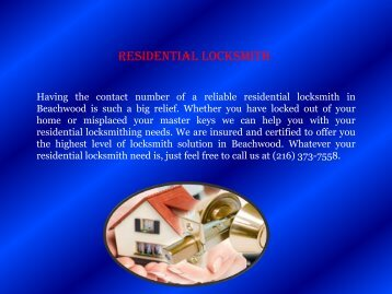 Locksmith Beachwood