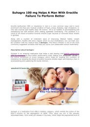 Suhagra 100 mg Helps A Man With Erectile Failure To Perform Better