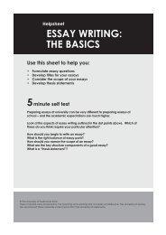 ESSAY WRITING: THE BASICS - The University of Sydney