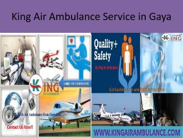 King Air Ambulance Service in Gaya