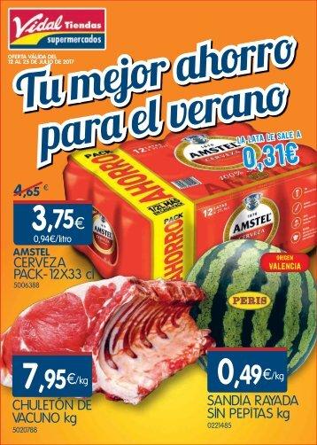 Folleto Ofertas Vidal tiendas hasta 25 de Julio 2017