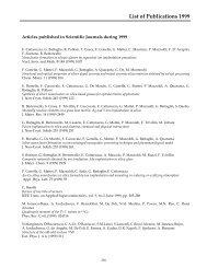 List of Publications 1999 - Legnaro National Laboratories - Infn