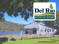 Wiseman Ferry Accommodation - Del Rio Riverside Resort