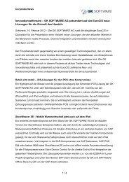 GK SOFTWARE AG präsentiert auf der EuroCIS neue ... - PresseBox