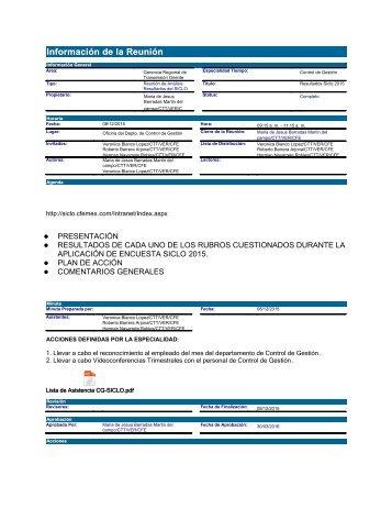 Resultados Siclo 2015 CG