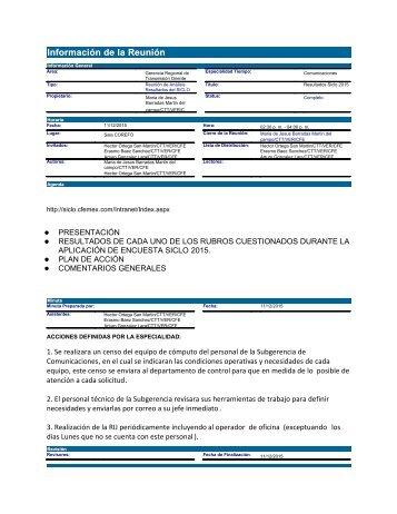 Resultados Siclo 2015 coms