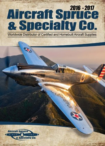 2016-2017 Aircraft Spruce Catalog