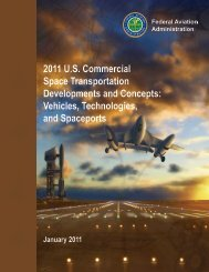 2011 U.S. Commercial Space Transportation Developments and - FAA