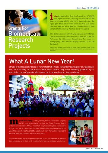 What A Lunar New Year! Biomedical Research Projects