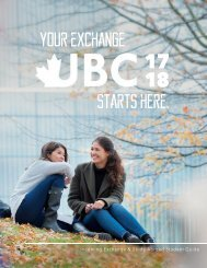 UBC Exchange Student Guide 2017-18