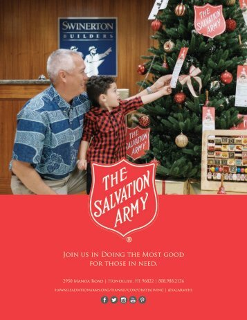 The Salvation Army Hawaiian and Pacific Islands Corporate Packet