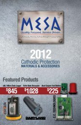 2012 price list - Mesa Products