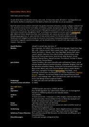 Newsletter März 2011 Hallo liebe Lennox-Freunde! Im ... - Lennox CF