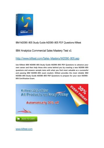 M2090-805 IBM Certification Training