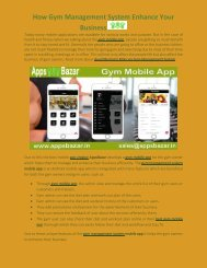 How Gym Management System Enhance Your Business
