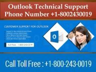 Outlook Technical Support Phone Number +1-8002430019