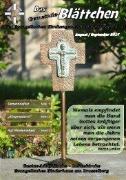 Gemeinde- Blättchen August September 2017