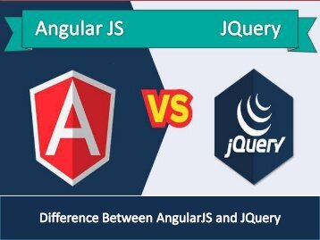 Difference between AngularJS and jQuery