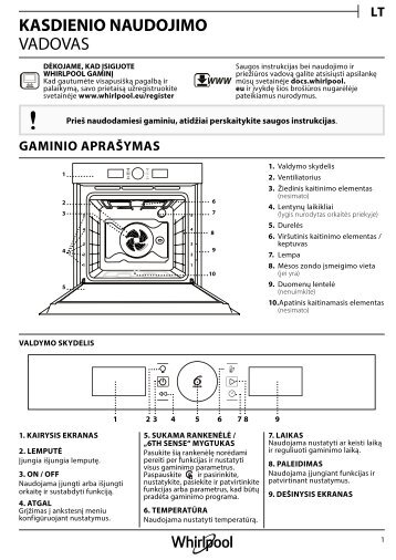 KitchenAid OAKZ9 7921 CS IX - OAKZ9 7921 CS IX LT (859991533830) Setup and user guide