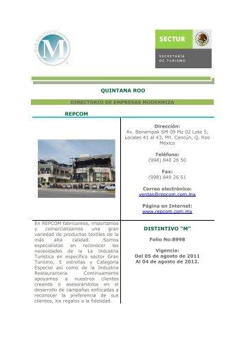 Empresas M Quintana Roo - Sectur