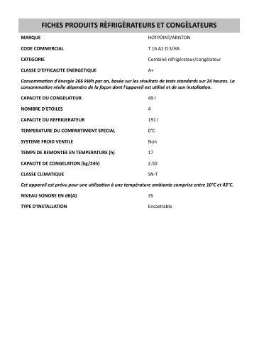 KitchenAid T 16 A1 D S/HA - T 16 A1 D S/HA FR (853903401510) Scheda Prodotto