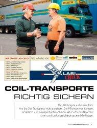 COIL-TRANSPORTE RICHTIG SICHERN - BGL