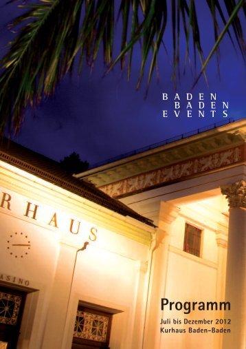 Programm - Baden-Baden Events