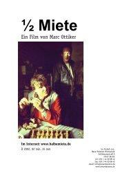 Im Internet: www.halbemiete.de - Neue Visionen Filmverleih