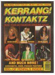 KERRANG KONTAKTZ 1990