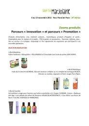 Zooms produits Parcours - Salon Marjolaine