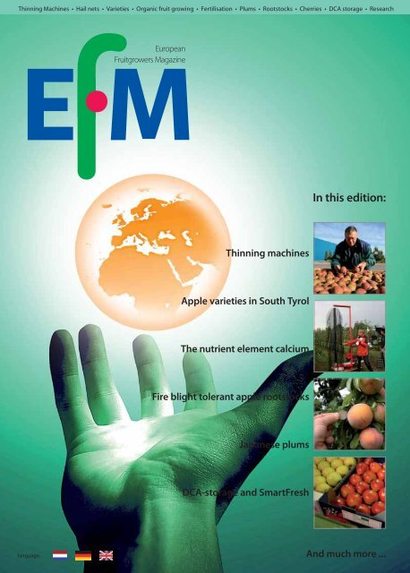 In this edition: - The European Fruit Magazine