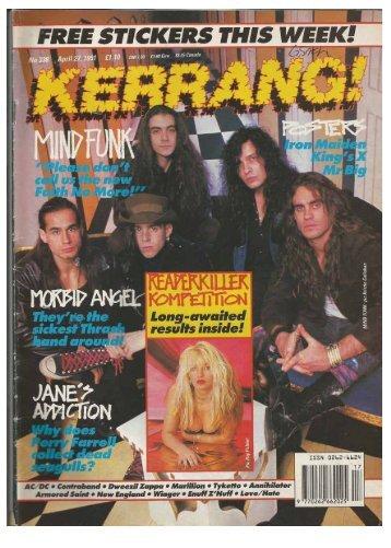 Kerrang No 338 April 27 1991