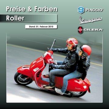 Preise & Farben Roller - Piaggio