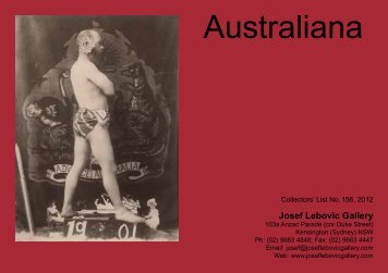 Australiana - Josef Lebovic Gallery
