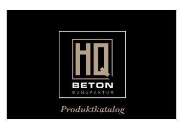 HQ Beton Produktkatalog