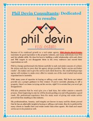 Phil Devin Consultants: Dedicated to results