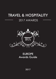 Travel & Hospitality Awards | Europe 2017 | www.thawards.com