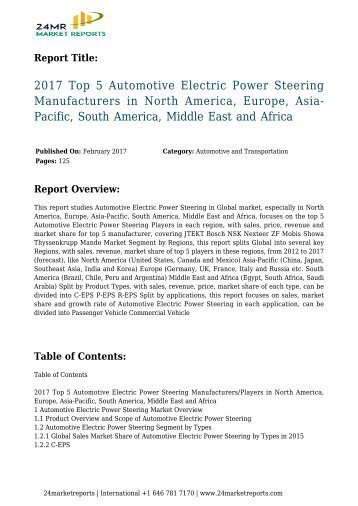 2017-top-5-automotive-electric-power-steering-manufacturers-in-north-america-europe-asia-pacific-south-america-middle-east-and-africa-24marketreports