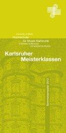 Karlsruher Meisterklassen - Hit
